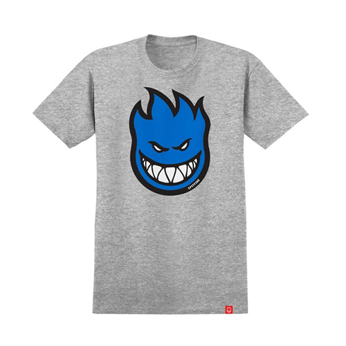 [spitfire] BIGHEAD FILL Youth S/S T-Shirt ATHLETIC HEATHER w/ BLUE Print 51010927C