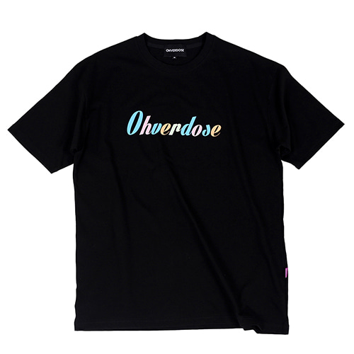 [OHVERDOSE]OVER-FIT MULTI COLORS LOGO TEE BLACK