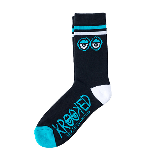 [Krooked]  BIG EYES  SOCK - BLACK/WHITE/BLUE