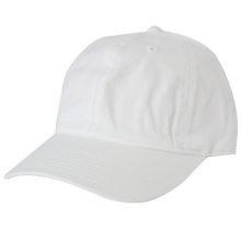 Brushed Cotten 6 Panel cap - White