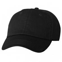Brushed Cotten 6 Panel cap - Black