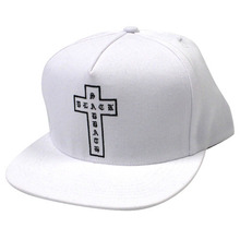 Black Sabbath Cross Snapback - White