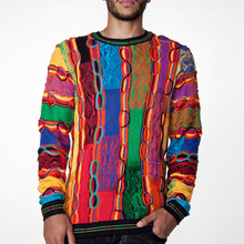 [Coogi] Bright Patchwork Crewneck