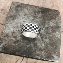 [Divine925] Divine925 Check Pattern Ring