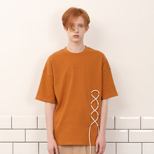 [A PAPER CUT] (30%할인)Lace Up Tee - Mustard