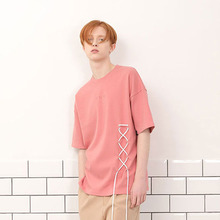 [A PAPER CUT] (30%할인)Lace Up Tee - Pink