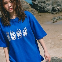 [Double adrenaline syndrome] ADRN FIRE T-shirt_BLUE