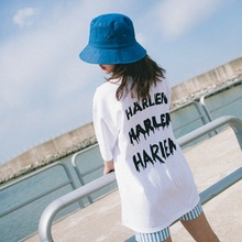 [Double adrenaline syndrome] HARLEM Basic 1/2 T-shirt_WHITE