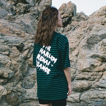 [Double adrenaline syndrome] Basic stripe 1/2 T-shirt_GREEN