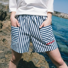 [Double adrenaline syndrome] Basic half pants - BLUE