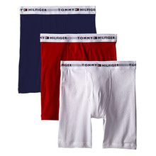 [Tommy Hilfiger] Cotton Boxer Brief 3pack - Navy/Red/White