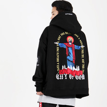 [weksnoop] Cry Of God Hoodie - Black