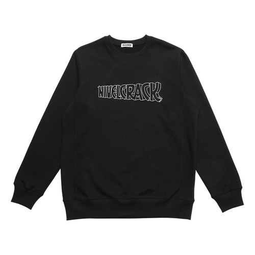 [ Nivelcrack ] Crack Sweatshirt Black