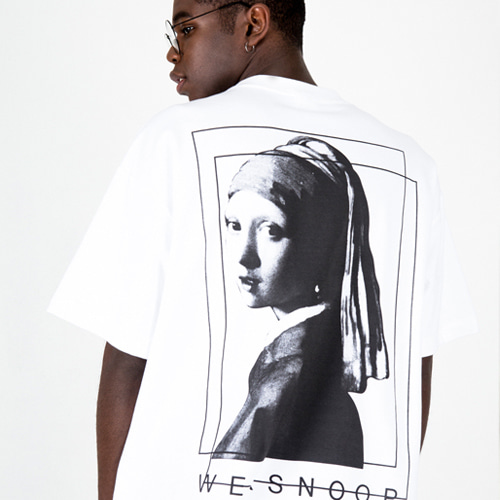 [weksnoop] Pearl Earring T-SHIRT (2color)
