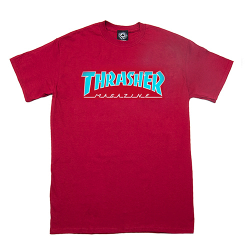 [Thrasher] Outlined Tee - Cardinal