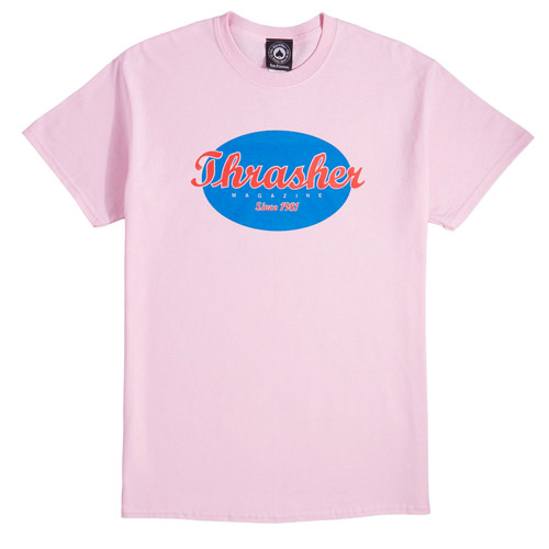 [Thrasher] Oval S/S - Pink