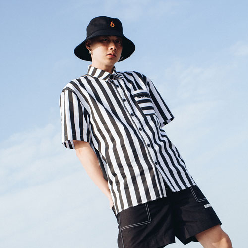 [Double adrenaline syndrome][남녀공용]Basic half shirts - stripe