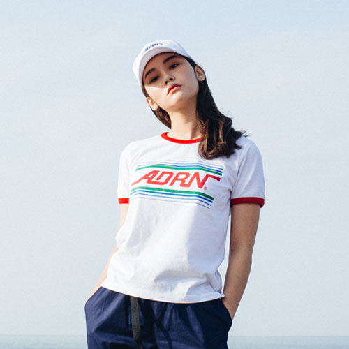 [Double adrenaline syndrome][여성]ADRN ringer tee - white