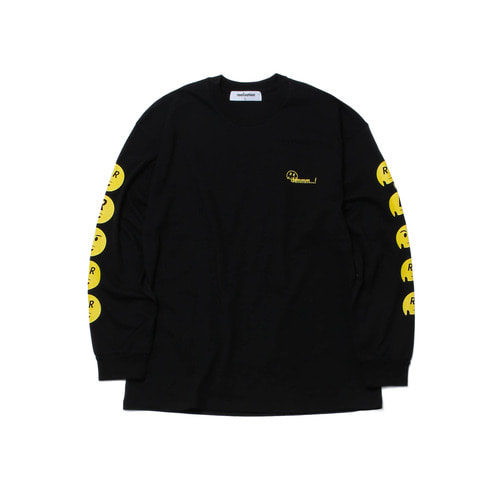 [Realization] Hmmm Emoji Long Sleeve - BLACK