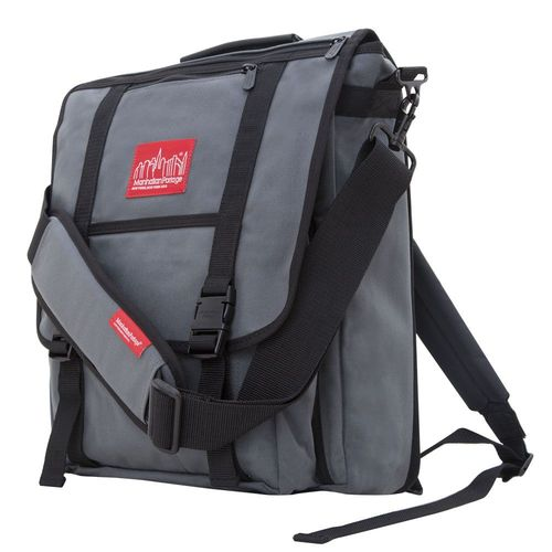 [Manhattan Portage] COMMUTER LAPTOP BAG (17 IN.) WITH BACK ZIPPER - GREY