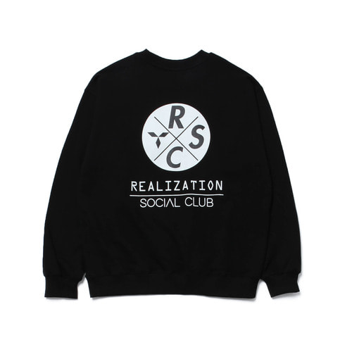 [Realization] RSC Logo SweatShirt [BLACK]