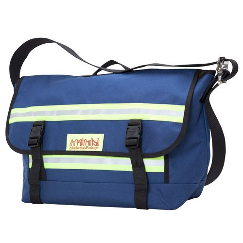 [Manhattan Portage] PRO BIKE MESSENGER BAG WITH STRIPES (MD) - NAVY
