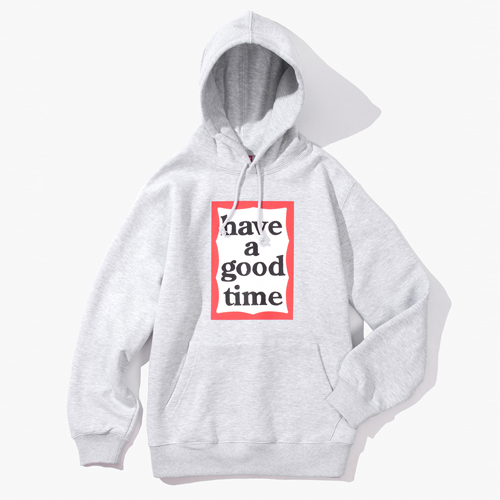 [Have a good time] FRAME PULLOVER HOODIE - HEATHER GREY