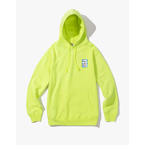 [Have a good time] MINI BLUE FRAME PULLOVER HOODIE - NEON GREEN