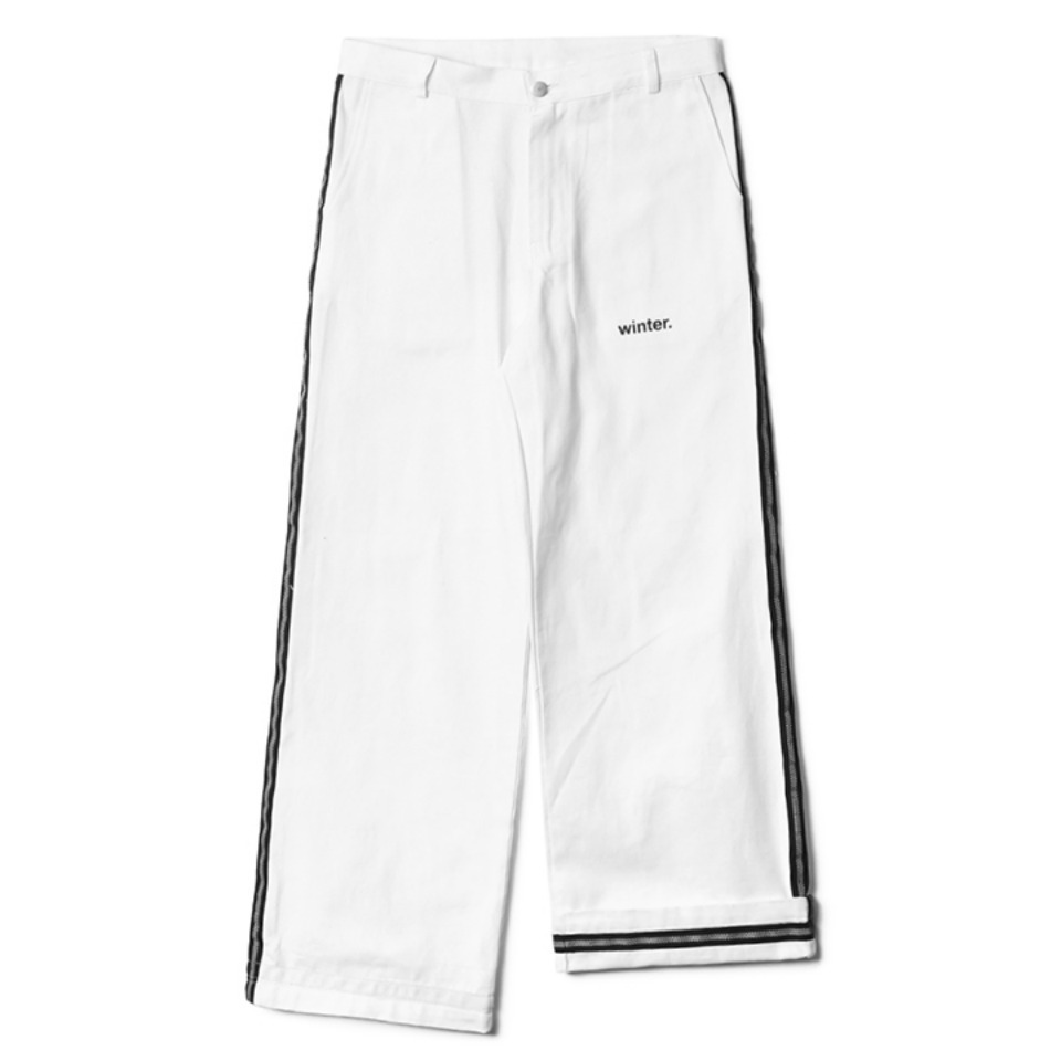 [NP] SAFETY LINE PANTS WHITE (NP18A064H)