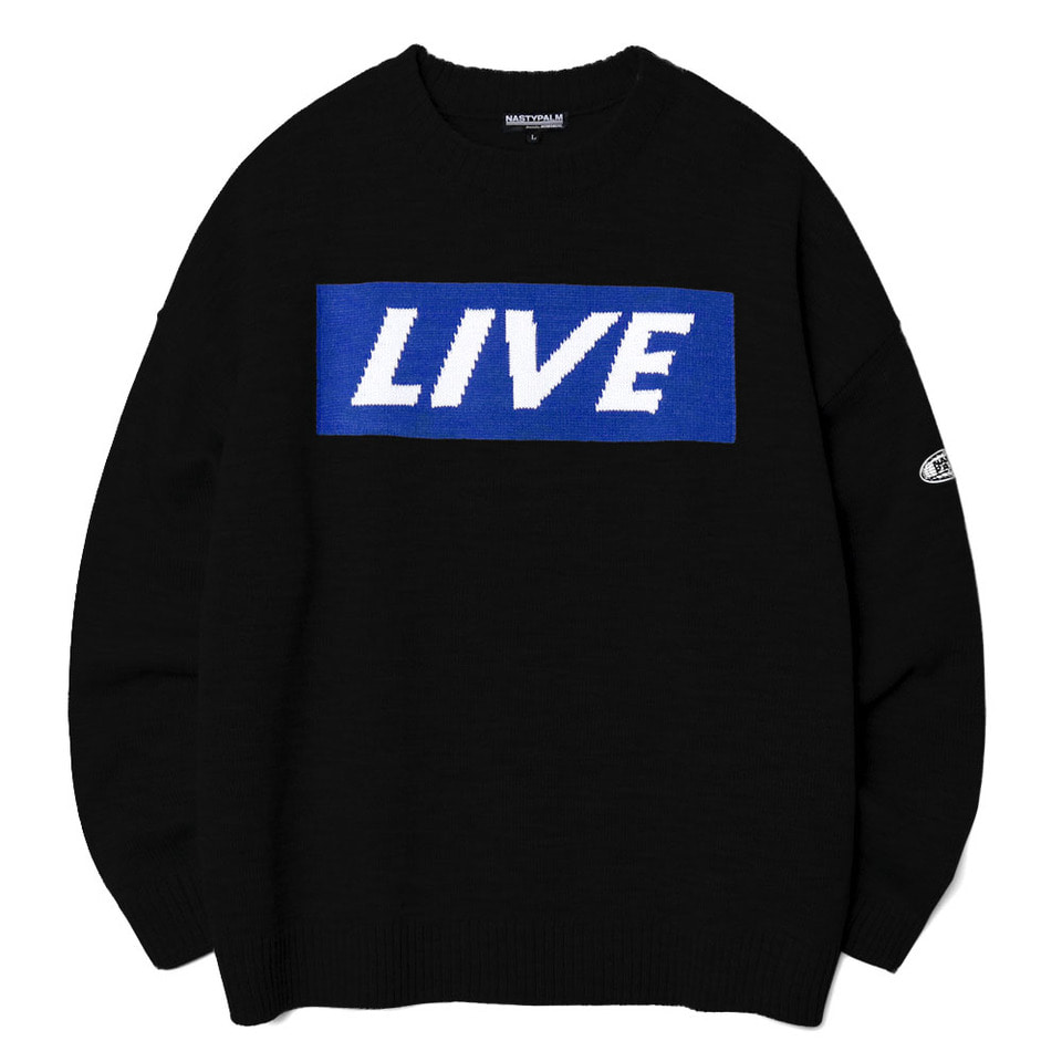 [NP] LIVE KNIT SWEATER BLACK (NP18A015H)