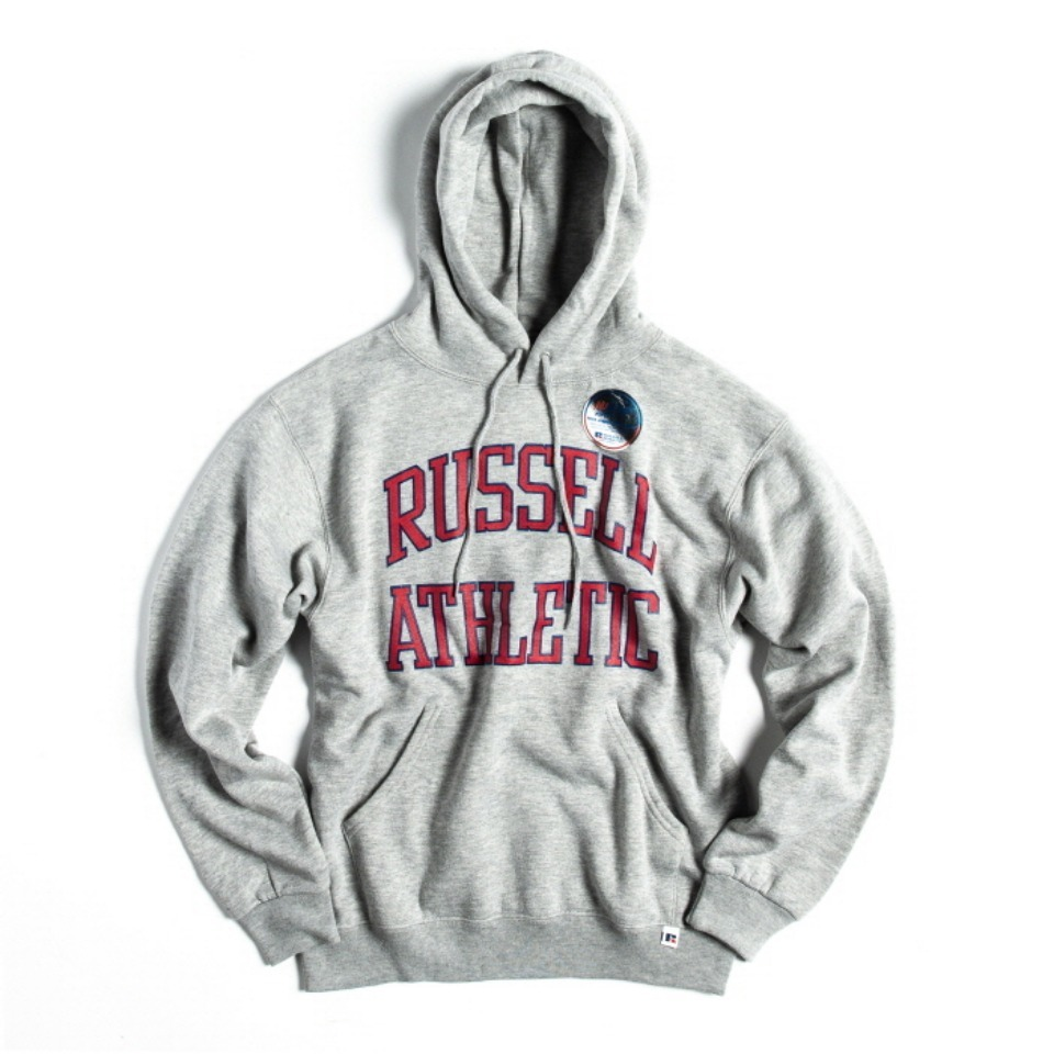[RUSSELL ATHLETIC] NU BLEND SWEAT PULLOVER HOODIE - H.GREY
