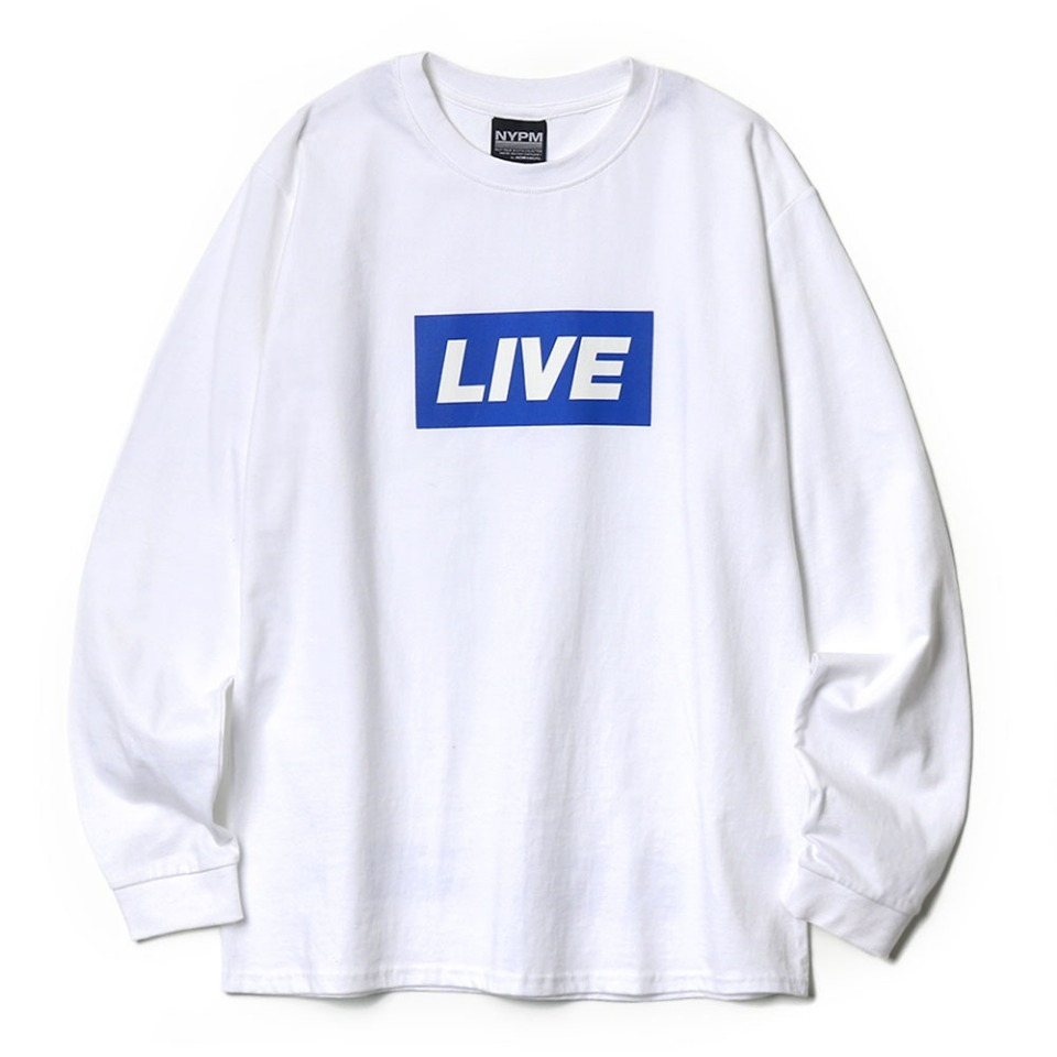 [NP] NEWS BANNER LONG SLEEVE WHITE (NP18A059H)