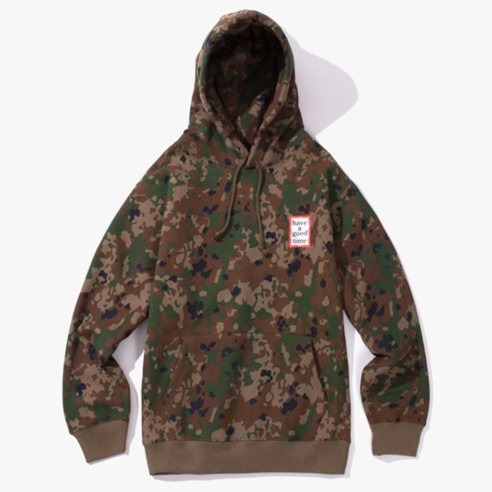 [Have a good time] MINI FRAME PULLOVER HOODIE - CAMO