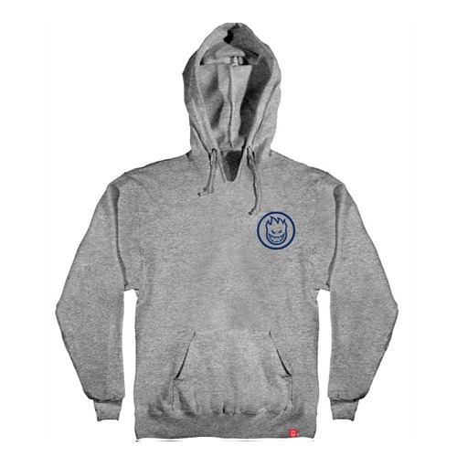 [Spitfire] CLASSIC SWIRL Pullover Hooded Sweatshirt - GREY HEATHER / NAVY Prints