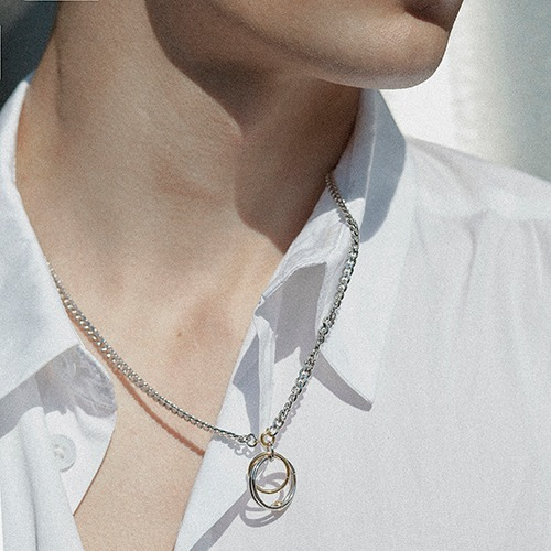 [핫듀] circle chain necklace