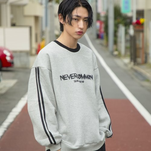 [NEVERCOMMON] logo line mtm - gray