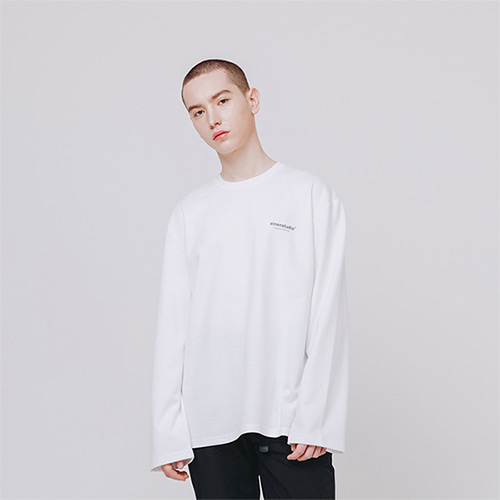 [EINEN]Original Logo L-Sleeve White