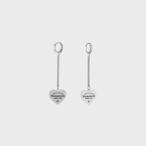 [NONENON] NEW LOGO LOVE CHAIN EAR