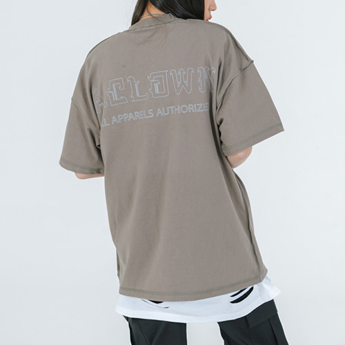 [A.Clown]Reversed 3M Reflective Scotch Pocket Half-Tee OLIVE