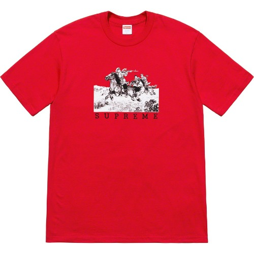 [Supreme] Riders Tee Red