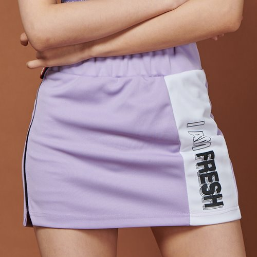 FRAY LINE SKIRT - LIGHT PURPLE