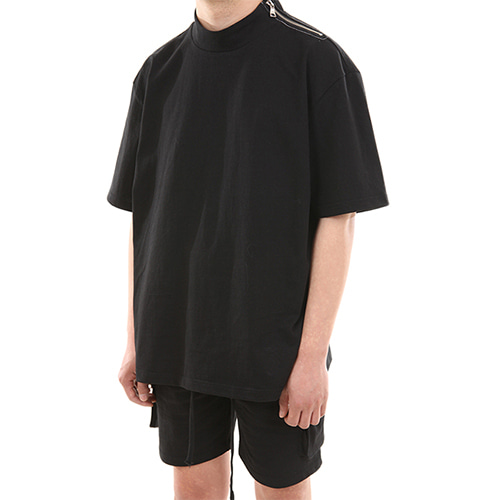 [LANG VERSIO] Neck Zipper TEE 1/2