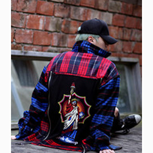 [Weksnoop]Flannel shirt - BLUE&RED