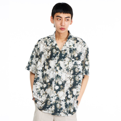 [THEGREATEST] GT19SUMMER 02 Flower Shirts GREEN