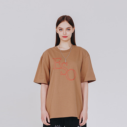 [EINEN]ESO Logo T-Shirts Brown