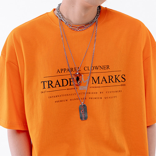 [A.Clown] ACL Trade Logo Half-Tee ORANGE