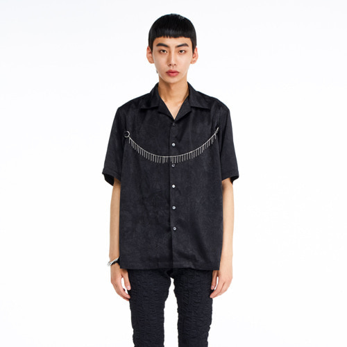 [THEGREATEST] GT19SUMMER 03 Chain Shirt BLACK