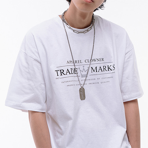 [A.Clown] ACL Trade Logo Half-Tee WHITE