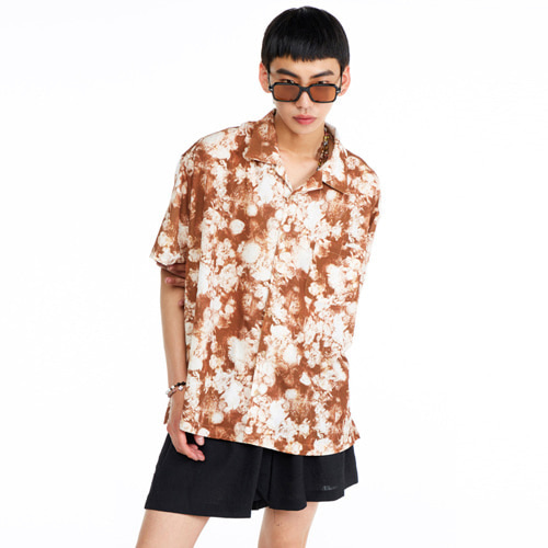 [THEGREATEST] GT19SUMMER 02 Flower Shirts BROWN