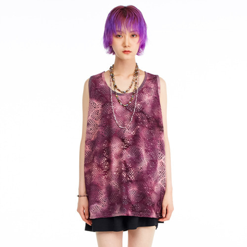 [THEGREATEST] GT19SUMMER 08 Net Sleeveless Shirt WINE